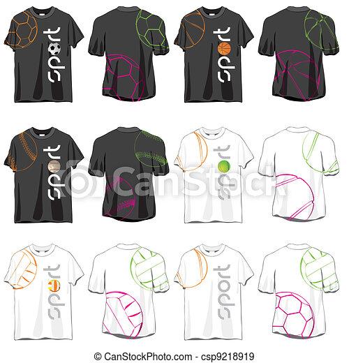 Sport T-shirts Designs Set - csp9218919