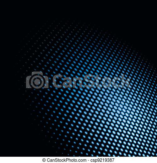 Light spot. Hexagonal dots  - csp9219387