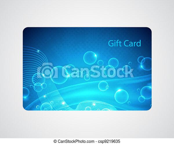 Blue gift card - csp9219635