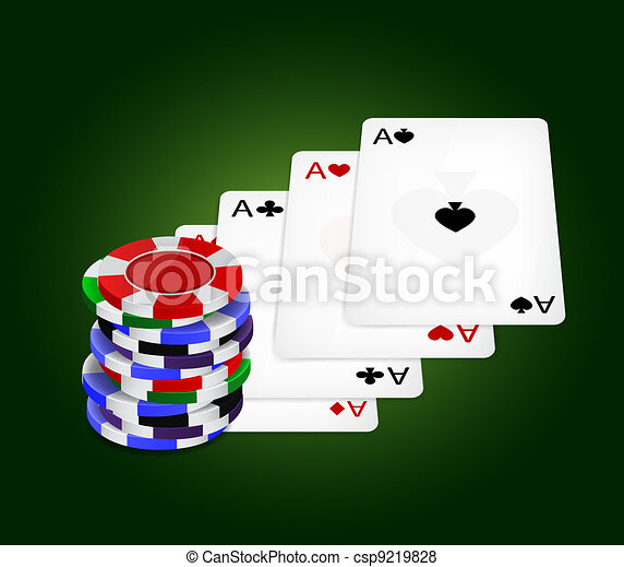 Four aces and chips - csp9219828