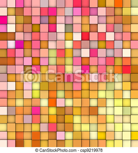 abstract 3d gradient backdrop cubes in happy fruity colors - csp9219978
