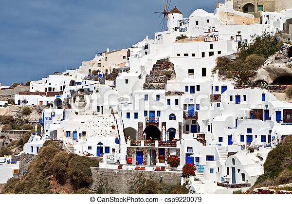 Oia at Santorini island in Greece - csp9220079