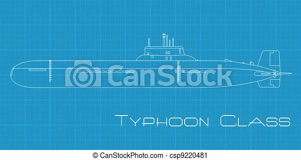 Typhoon class submarine - csp9220481