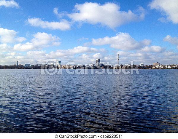 Hamburg Lake Alster in Spring - csp9220511