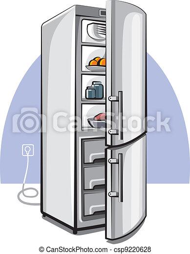deux, porte, réfrigérateur - csp9220628