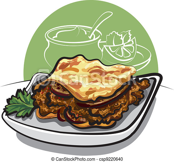 Delicious Greek moussaka with auber - csp9220640