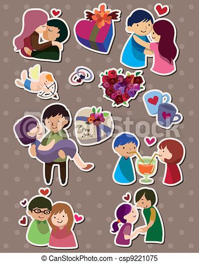 love stickers - csp9221075