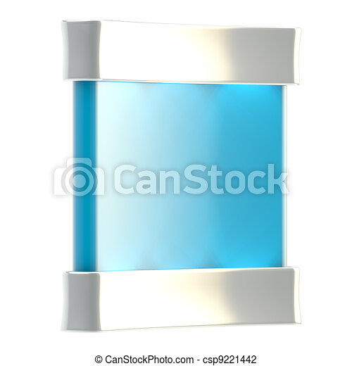 Copyspace stand with illumination isolated - csp9221442