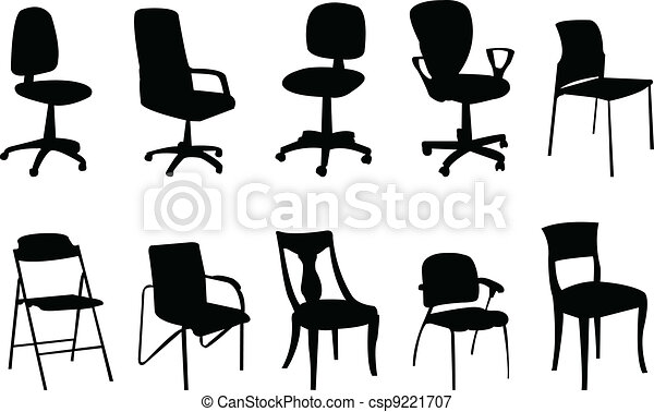 Chairs silhouette - csp9221707