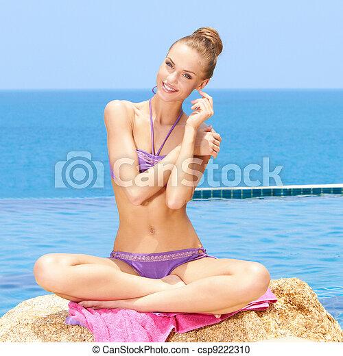 Glamorous Woman In Bikini - csp9222310