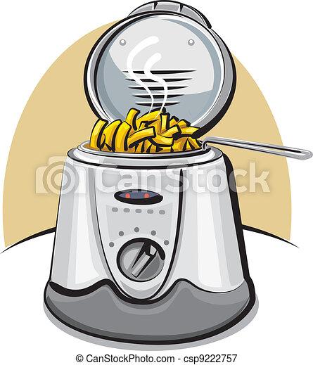 Illustrations Vectoris 233 Es De Chips Friteuse Profond
