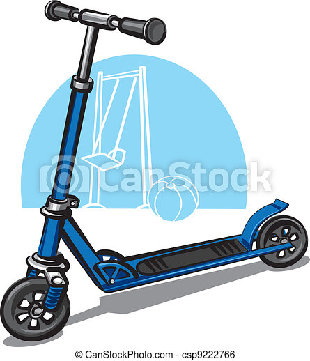 children scooter - csp9222766