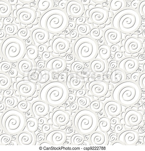 Seamless abstract curly wave pattern - csp9222788