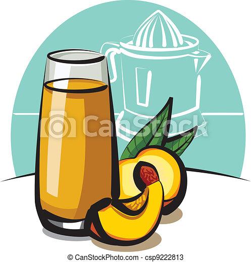fresh peach juice - csp9222813