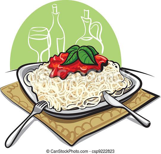 Spaghetti with tomato sauce - csp9222823