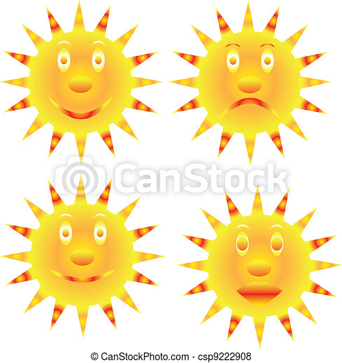 sunshine smile and unhappy - csp9222908