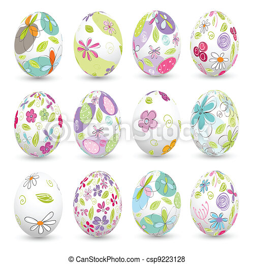 easter eggs, happy easter - csp9223128