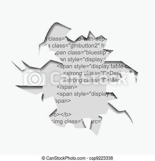 Abstract Vector Hole with Program Text - csp9223338