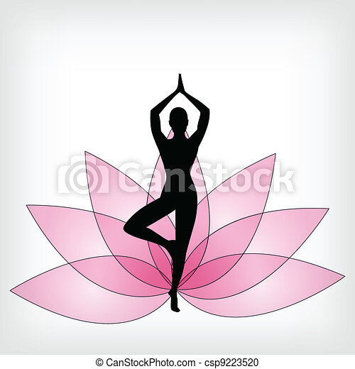 abstract yoga background - csp9223520