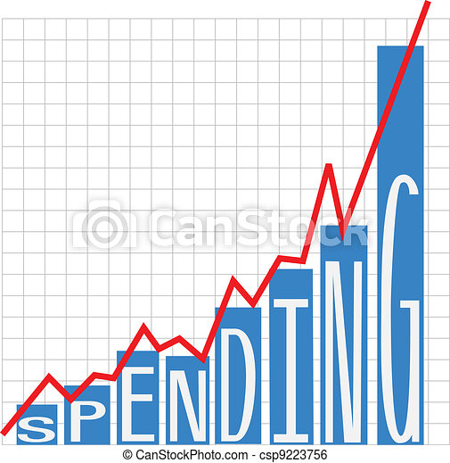 Government big spending deficit chart - csp9223756