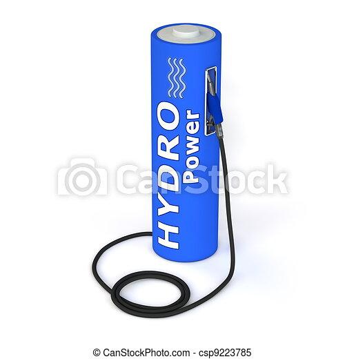 Battery Petrol Station - Hydro Power - csp9223785