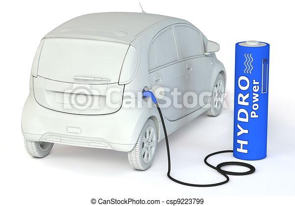 Battery Petrol Station - Hydro Power - csp9223799