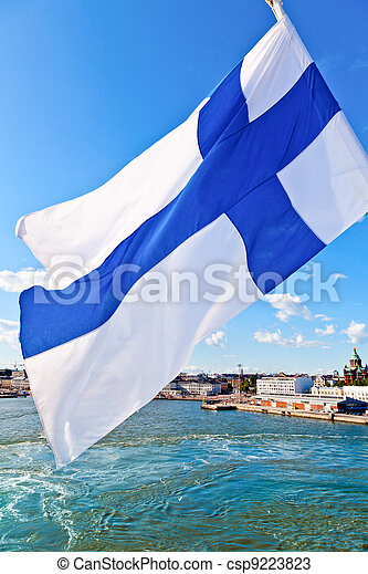 Waving Finnish Flag - csp9223823