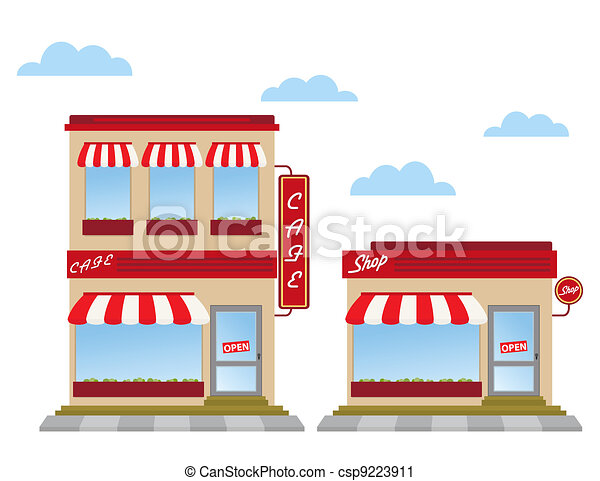 store fronts - csp9223911
