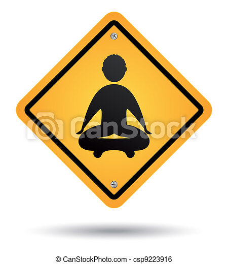 meditation road sign - csp9223916