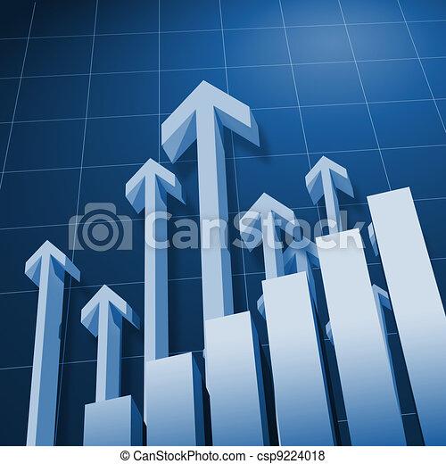 Charts and upward directed arrows - csp9224018