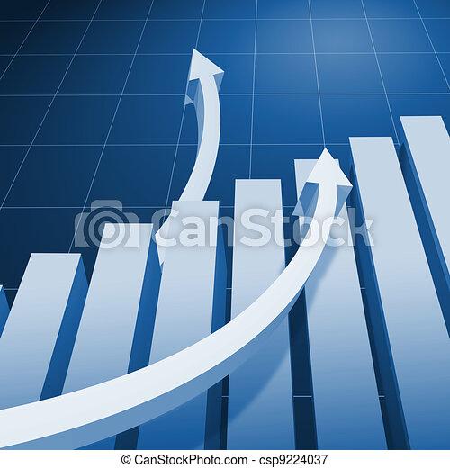 Charts and upward directed arrows - csp9224037