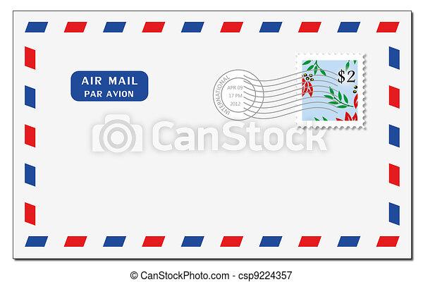Air mail envelope - csp9224357