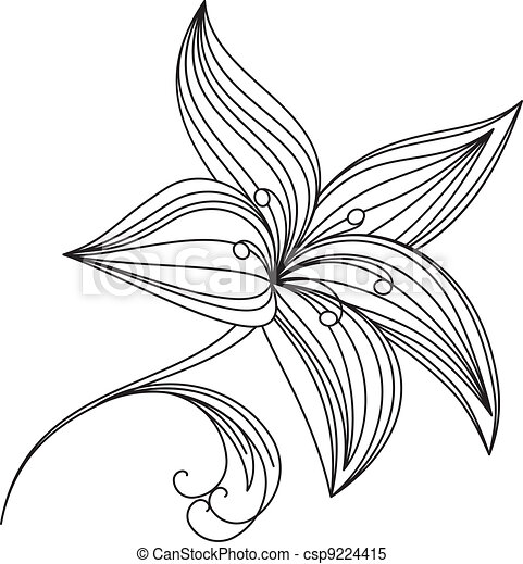 Abstract beautiful flower of lily - csp9224415