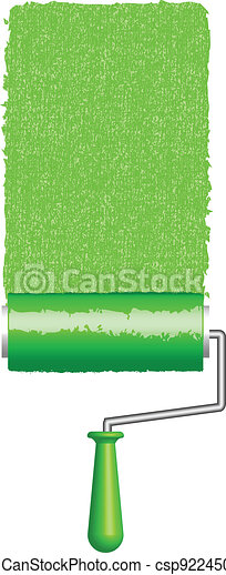 Vector illustration of paint roller - csp9224507
