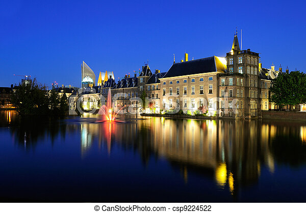 Binnenhof buildings of the Dutch Government in the Hague - csp9224522