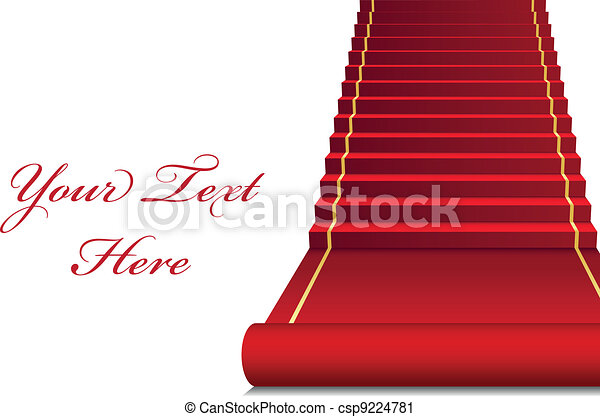 Vector background with red Carpet - csp9224781