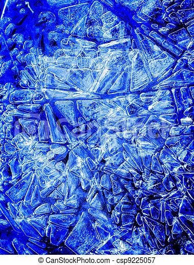 Frozen Blue Ice Crystals - csp9225057