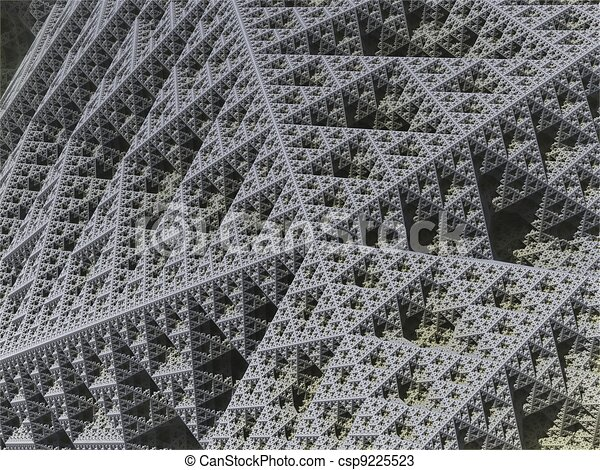 computer generated 3D abstract background - csp9225523