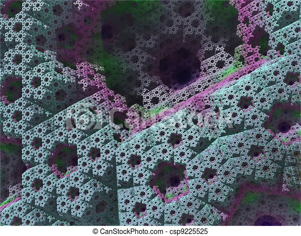 computer generated 3D abstract background - csp9225525
