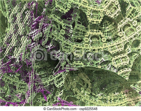computer generated 3D abstract background - csp9225548