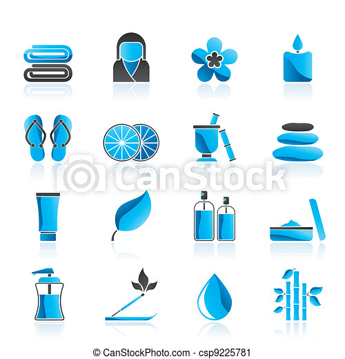 Spa objects icons - csp9225781