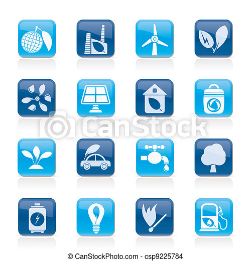 Green, Environment and ecology Icon - csp9225784