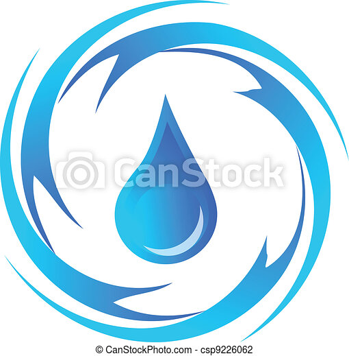 Water Drop Drawing Vector Illustration of...