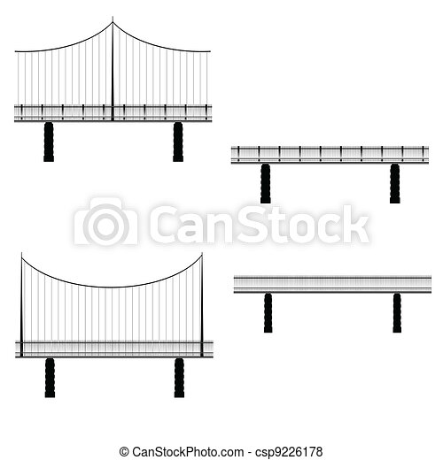 bridge vector illustration - csp9226178