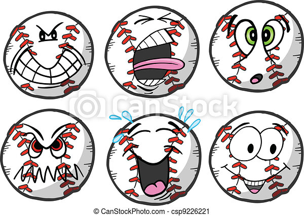 Baseball emotion Sports Icons - csp9226221