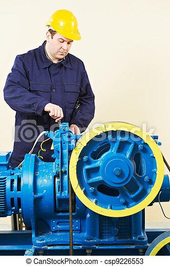 Machinist tuning elevator brakes mechanism - csp9226553