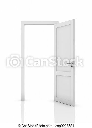 Opened door - csp9227531