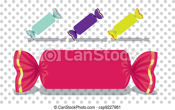 Rectangular colored candies - csp9227981