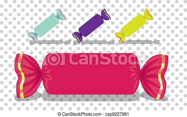 Rectangular colored candies - csp9227981