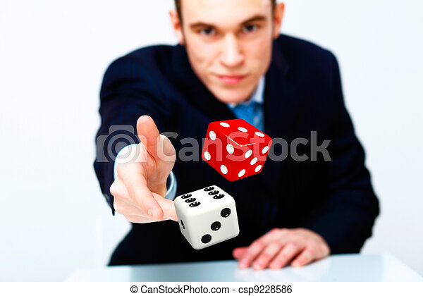 Dice as symbol of risk and luck - csp9228586